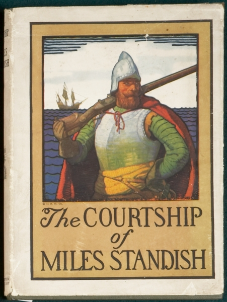 THE COURTSHIP OF MILES STANDISH. N. C. WYETH, Illustrator, HENRY WADSWORTH LONGFELLOW.