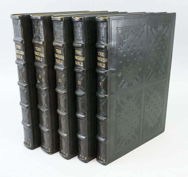 THE ENGLISH BIBLE. DOVES PRESS, BIBLE IN ENGLISH, BINDINGS - ELLEN GATES STARR.