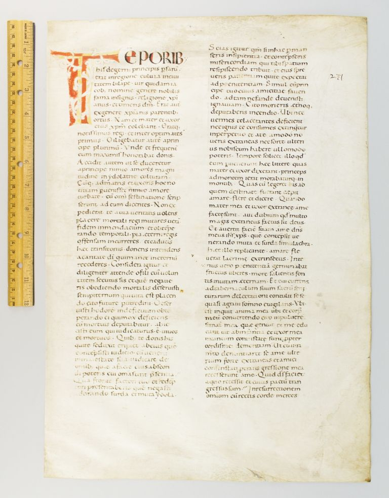 A VAST LEAF FROM AN EARLY MARTYROLOGY.
