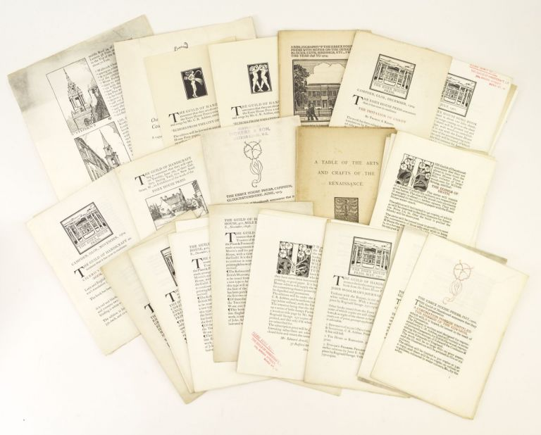 A COLLECTION OF 30 EPHEMERAL ITEMS FROM THE GUILD OF HANDICRAFT AND THE ESSEX HOUSE PRESS. ESSEX HOUSE PRESS.