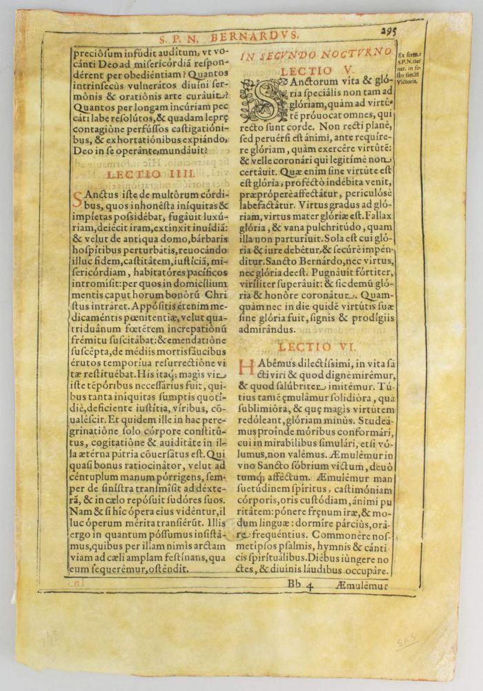 A BOOK OF LATIN SERMONS. FROM A LEAF PRINTED ON VELLUM.