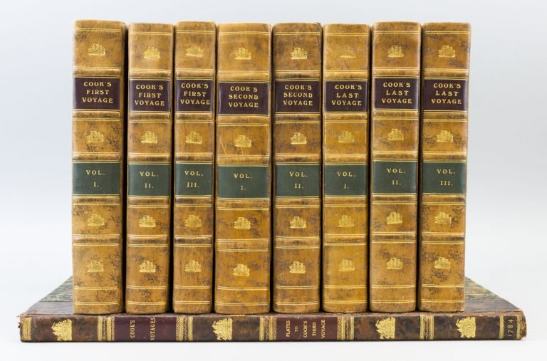 AN ACCOUNT OF THE VOYAGES UNDERTAKEN BY THE ORDER OF HIS PRESENT MAJESTY FOR MAKING DISCOVERIES IN THE SOUTHERN HEMISPHERE. [and] A VOYAGE TOWARDS THE SOUTH POLE, AND ROUND THE WORLD. [and] A VOYAGE TO THE PACIFIC OCEAN. CAPTAIN JAMES COOK, JOHN HAWKESWORTH, JAMES KING.