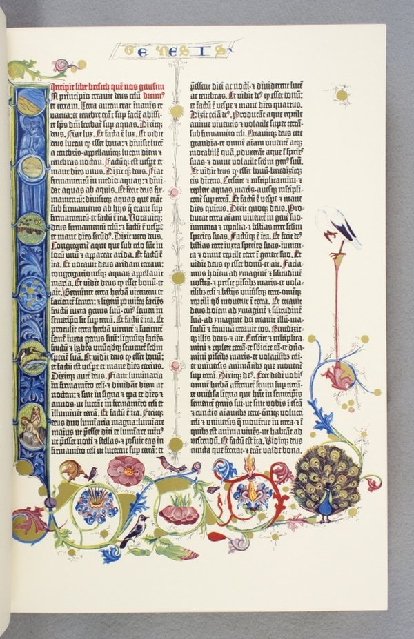 THE GUTENBERG BIBLE. FACSIMILE PUBLICATION - EARLY PRINTED BOOKS, BIBLE IN LATIN.