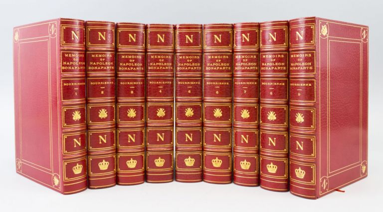 MEMOIRS OF NAPOLEON BONAPARTE. EXTRA-ILLUSTRATED WORKS, LOUIS ANTOINE FAUVELET DE BOURRIENNE, BINDINGS - KNICKERBOCKER PRESS BINDERY, NAPOLEON BONAPARTE.