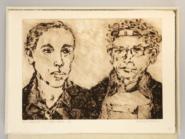 PORTRAITS - FRIENDS - ARTISTS: DRYPOINTS, ETCHINGS, WOODCUTS OF OREGON ARTISTS BY LAVERNE KRAUSE, POEMS BY KENNETH O. HANSON. KENNETH O. LAVERNE KRAUSE HANSON, and.