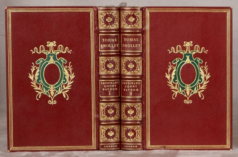 THE ADVENTVRES OF COVNT FATHOM. TOBIAS SMOLLETT, BINDINGS - HARCOURT BINDERY.