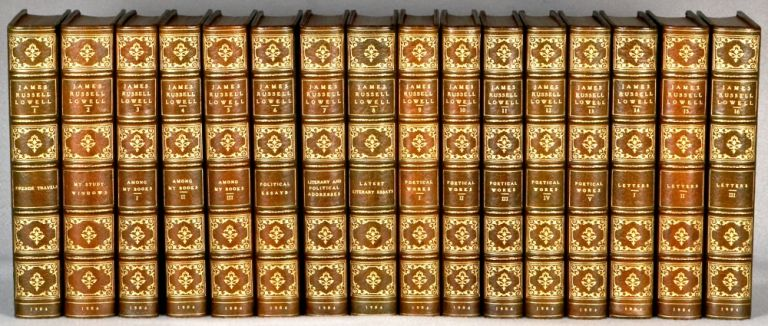 THE COMPLETE WRITINGS. BINDINGS - FINELY BOUND SETS, JAMES RUSSELL LOWELL.