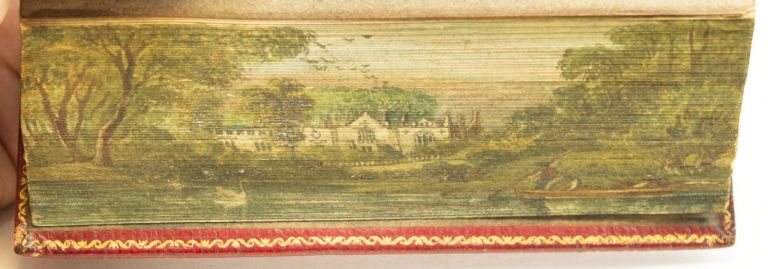 ELEGANT EPISTLES: BEING A COPIOUS SELECTION OF INSTRUCTIVE, MORAL, AND ENTERTAINING LETTERS, FROM THE MOST EMINENT EPISTOLARY WRITERS. [and] ELEGANT EXTRACTS FROM THE MOST EMINENT BRITISH POETS. FORE-EDGE PAINTINGS.