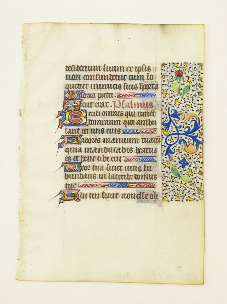 FROM AN ATTRACTIVE BOOK OF HOURS IN LATIN
