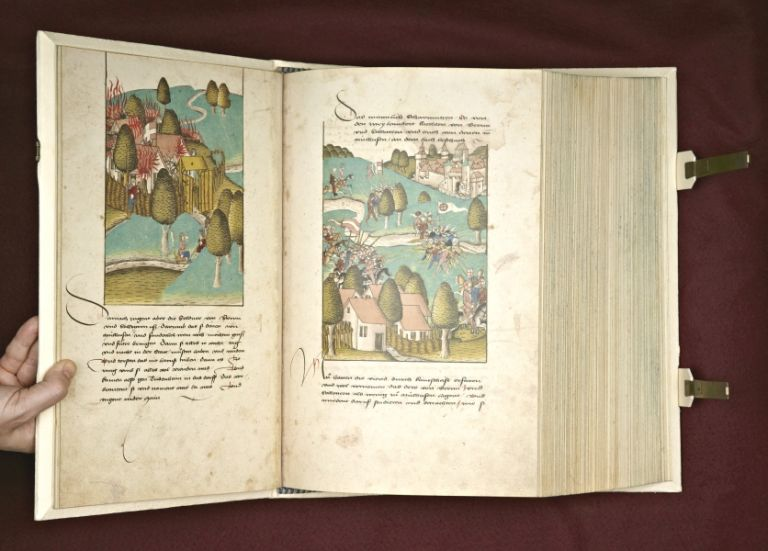 "DIE GROSSE BURGANDER CHRONIK [THE GREAT BURGUNDIAN CHRONICLE], ""ZÜRCHER SCHILLING."" EARLY FACSIMILE PUBLICATION - ILLUMINATED MANUSCRIPTS, DIEBOLD SCHILLING, THE ELDER."
