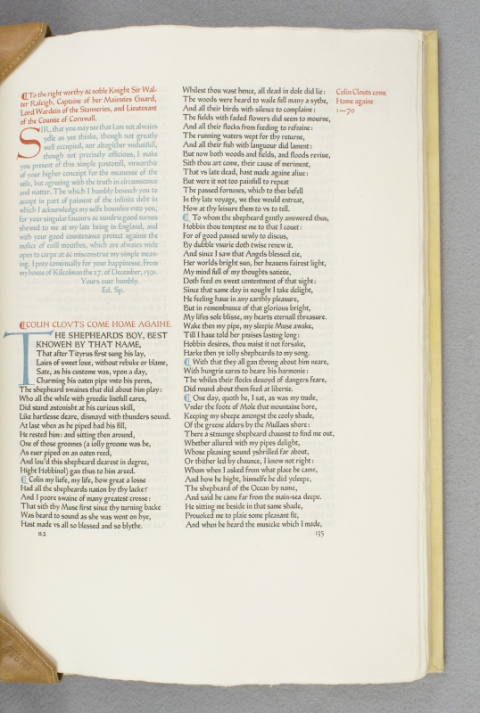 SPENSER'S MINOR POEMS, CONTAINING THE SHEPHEARDES CALENDER, COMPLAINTS, DAPHNAIDA, COLIN CLOVTS COME HOME AGAIN, AMORETTI, HYMNES, EPITHALAMION, PROTHALAMION, SONNETS, AND SVNDRIE OTHER VERSES. ASHENDENE PRESS, EDMUND SPENSER.