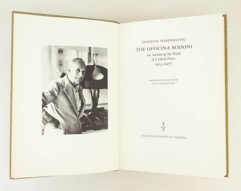 THE OFFICINA BODONI: AN ACCOUNT OF THE WORK OF A HAND PRESS, 1923-1977. OFFICINA BODONI, GIOVANNI MARDERSTEIG.