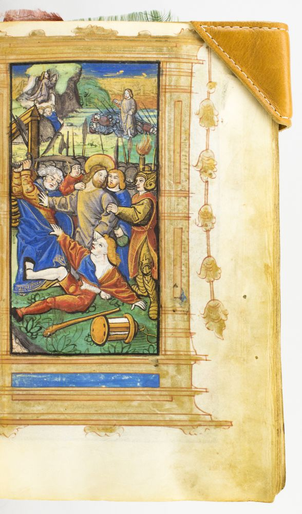 A PRINTED BOOK OF HOURS ON VELLUM, IN LATIN AND FRENCH. USE OF ROME. BOOKS OF HOURS - PRINTED.