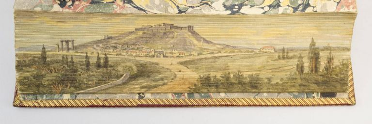 THE SPIRIT OF ATHENS, BEING A POLITICAL AND PHILOSOPHICAL INVESTIGATION OF THE HISTORY OF THAT REPUBLIC. FORE-EDGE PAINTING, WILLIAM YOUNG.