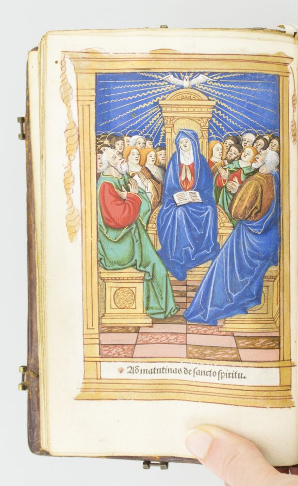 A PRINTED BOOK OF HOURS ON VELLUM, IN LATIN AND FRENCH. USE OF ROME. VELLUM PRINTING, IN LATIN AND FRENCH A PRINTED BOOK OF HOURS ON VELLUM.