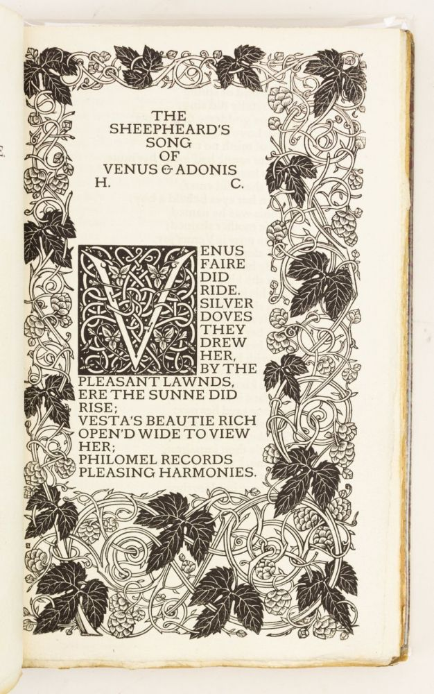 POEMS AND SONNETS. VALE PRESS, HENRY CONSTABLE.