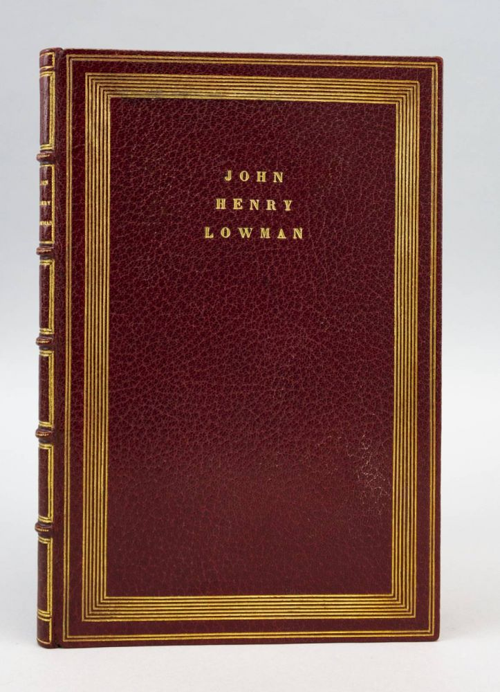 MEMORIAL. BINDINGS - THE FRENCH BINDERS, JOHN HENRY LOWMAN.