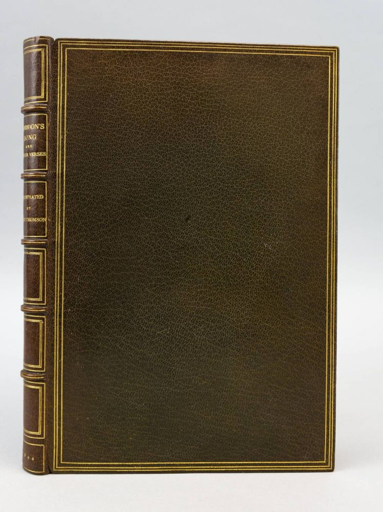 CORIDON'S SONG AND OTHER VERSES FROM VARIOUS SOURCES. BINDINGS - ZAEHNSDORF, HUGH THOMSON.
