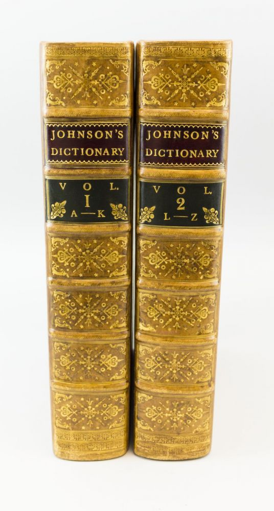 A DICTIONARY OF THE ENGLISH LANGUAGE. SAMUEL JOHNSON.
