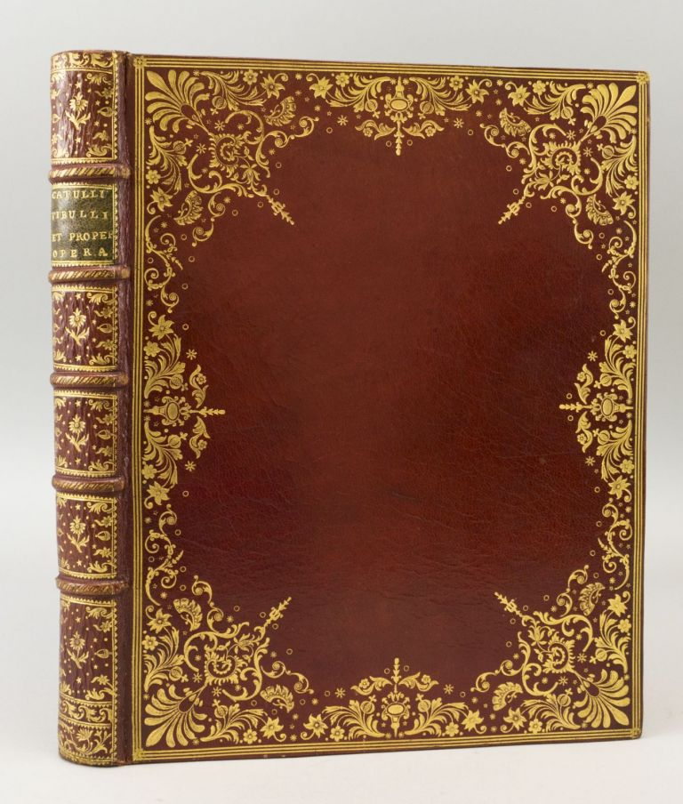 OPERA. BINDINGS - 18TH CENTURY MOROCCO, CATULLUS. TIBULLUS. PROPERTIUS, BASKERVILLE IMPRINT, and.