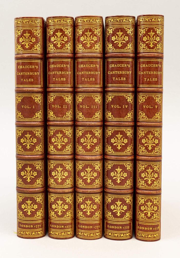 THE CANTERBURY TALES. GEOFFREY CHAUCER, BINDINGS - CHAMBOLLE-DURU.