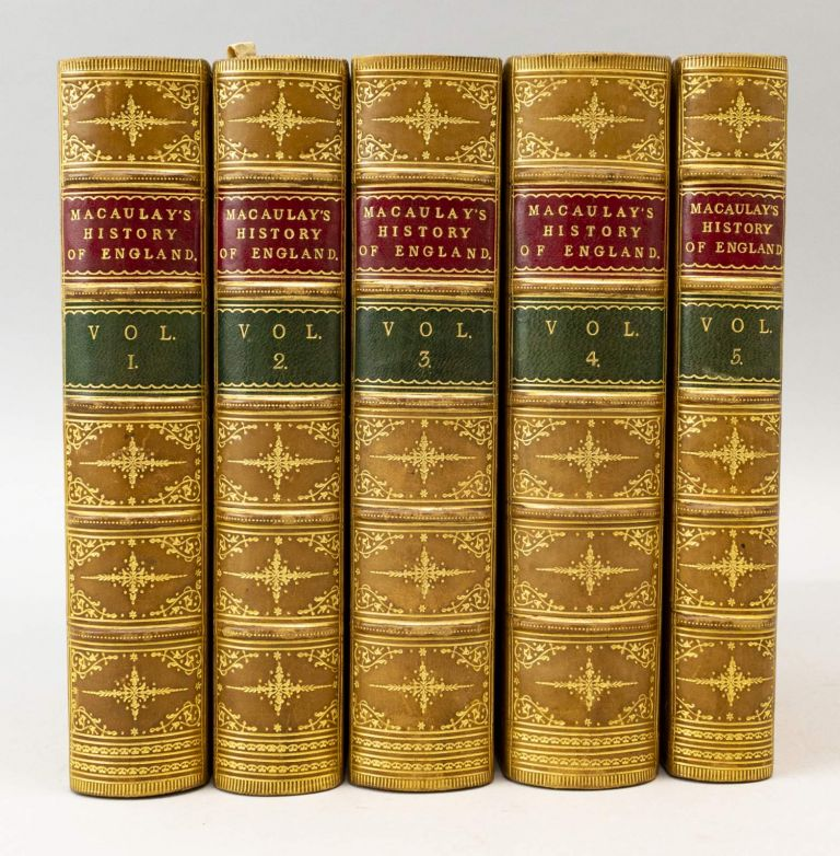 HISTORY OF ENGLAND FROM THE ACCESSION OF JAMES THE SECOND. BINDINGS - FINELY BOUND SETS, THOMAS BABINGTON MACAULAY.