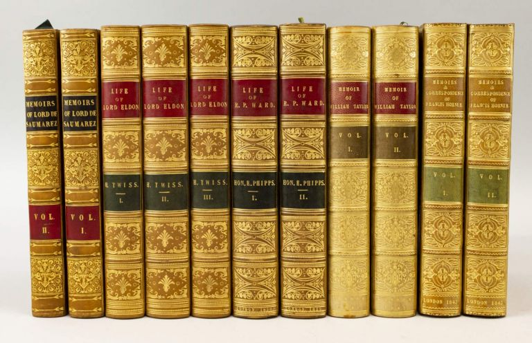 BIOGRAPHIES, MEMOIRS, AND LETTERS OF SIX DISTINGUISHED BRITONS. BINDINGS - TREE OR POLISHED CALF.