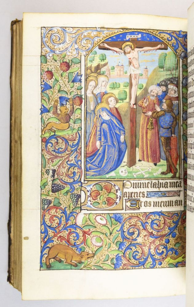 USE OF ROUEN. FROM THE WORKSHOP OF THE MAÎTRE DE L'ECHEVINAGE DE ROUEN A HANDSOME ILLUMINATED VELLUM MANUSCRIPT BOOK OF HOURS IN LATIN AND FRENCH.