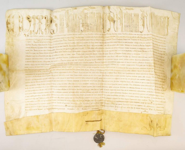 REGARDING THE ASSIGNMENT OF THE PARISH CHURCH OF SAN FABIANO AND SAN SEBASTIANO DI CARANTINI. A PAPAL BULL ON VELLUM IN LATIN, CLEMENT VII.