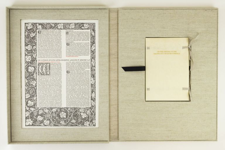 LETTERS FROM THE 15TH CENTURY: ON THE ORIGINS OF THE KELMSCOTT CHAUCER TYPEFACE. A STUDY, WITH SPECIMEN LEAVES, OF THE INFLUENCE OF THE EARLY GERMAN PRINTERS ON WILLIAM MORRIS' MASTERPIECE. LEAF BOOK - KELMSCOTT PRESS AND PRINTING HISTORY, PHILLIP J. PIRAGES.