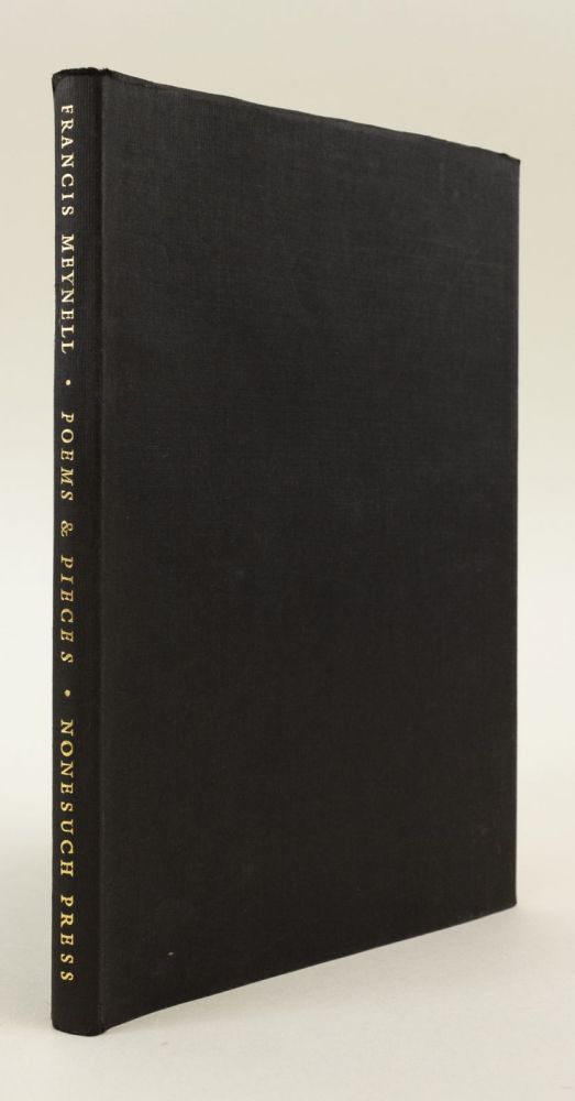 POEMS & PIECES, 1911-1961. NONESUCH PRESS, FRANCIS MEYNELL.