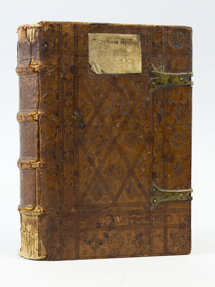 CONFESSIONALE: DEFECERUNT SCRUTANTER SCRUTINIO. [with] JOHANNES CHRYSOSTOMUS. SERMO DE POENITENTIA. ANTONINUS FLORENTINUS, BINDINGS - MASTER OF THE ROSE.
