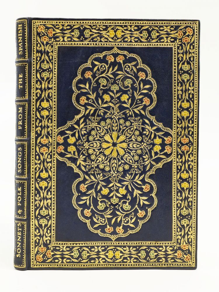 SONNETS WITH FOLK SONGS FROM THE SPANISH. BINDINGS, HAVELOCK ELLIS, GOLDEN COCKEREL PRESS.
