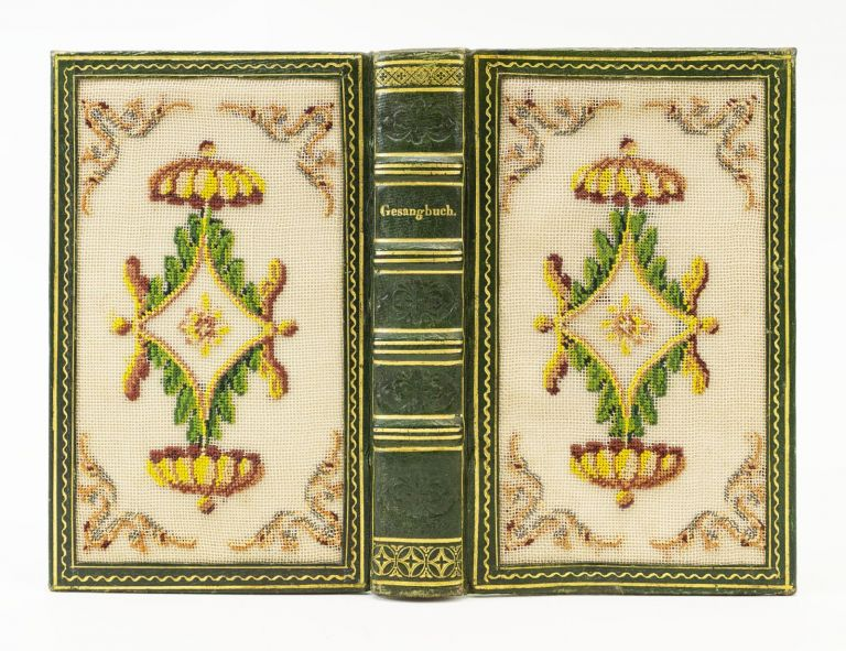 ALLGEMEINES EVANGELISCHES GESANGBUCH FUR DAS GROSSHERZOGTHUM HESSEN. BINDINGS - EMBROIDERED, HYMNAL IN GERMAN.