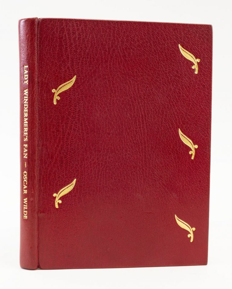 LADY WINDERMERE'S FAN. OSCAR WILDE, BINDINGS - ASPREY.