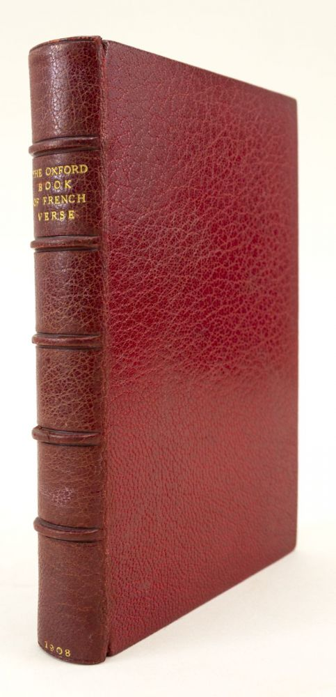 THE OXFORD BOOK OF FRENCH VERSE. BINDINGS - MORRELL.