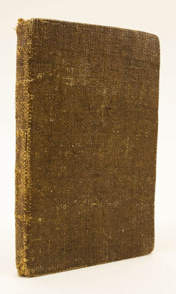 THE LONDON VOCABULARY, ENGLISH AND LATIN: PUT INTO A NEW METHOD, PROPER TO ACQUAINT THE LEARNER WITH THINGS AS WELL AS PURE LATIN WORDS. ADORNED WITH TWENTY-SIX PICTURES. FOR THE USE OF SCHOOLS. BINDINGS - 18TH CENTURY SCHOOLROOM BURLAP, JAMES GREENWOOD, EDUCATION.