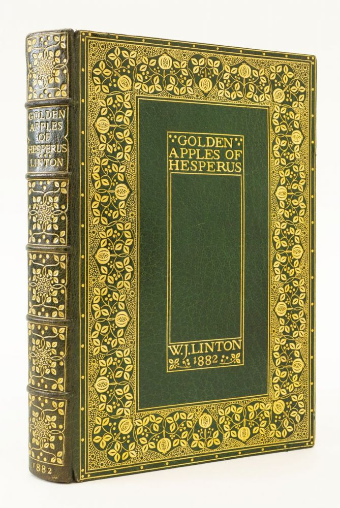 """GOLDEN APPLES OF HESPERUS. POEMS NOT IN THE COLLECTIONS. BINDINGS - """"B. C. D."""", W. J. LINTON, APPLEDORE PRESS."""