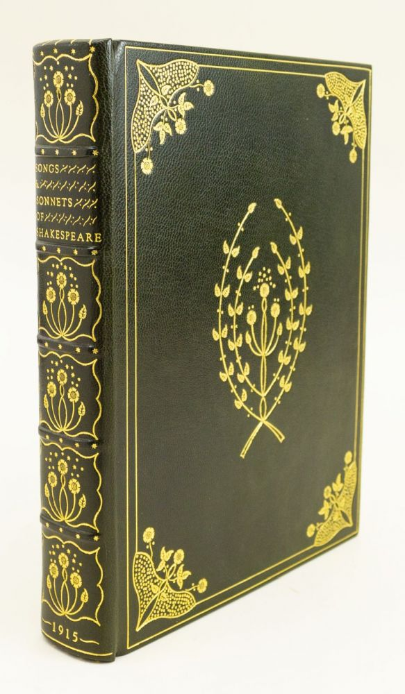 THE SONGS & SONNETS OF SHAKESPEARE. BINDINGS - ANDREW SIMS, WILLIAM. CHARLES ROBINSON SHAKESPEARE.