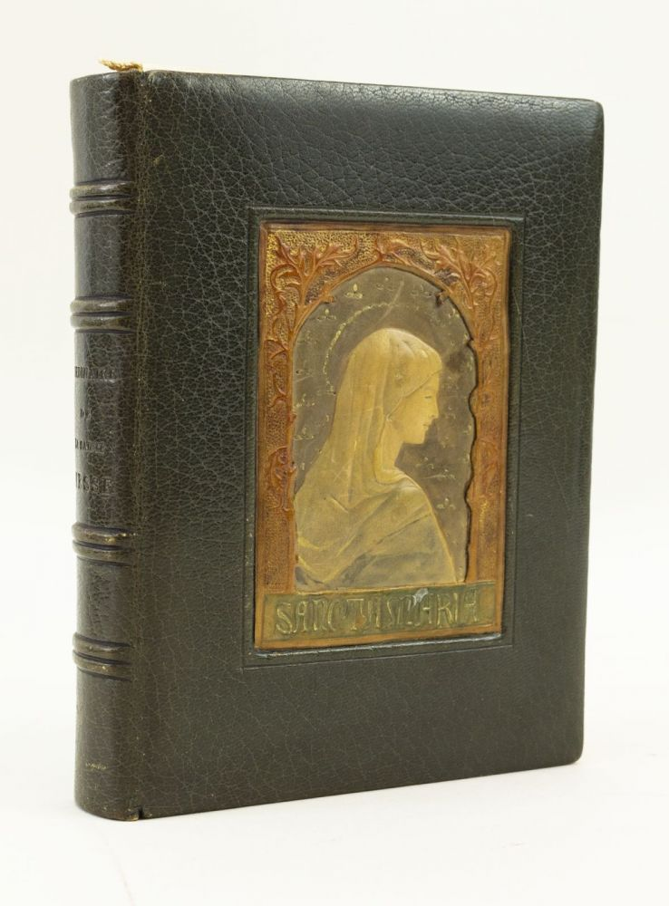 ORDINAIRE DE LA SAINTE MESSE. [with] CÉRÉMONIES DU MARIAGE. [and] PRIÈRES POUR LA COMMUNION. VELLUM PRINTING, A HAND-PAINTED AND ILLUMINATED PRAYER BOOK ON VELLUM IN FRENCH, BINDINGS - MODELLED.