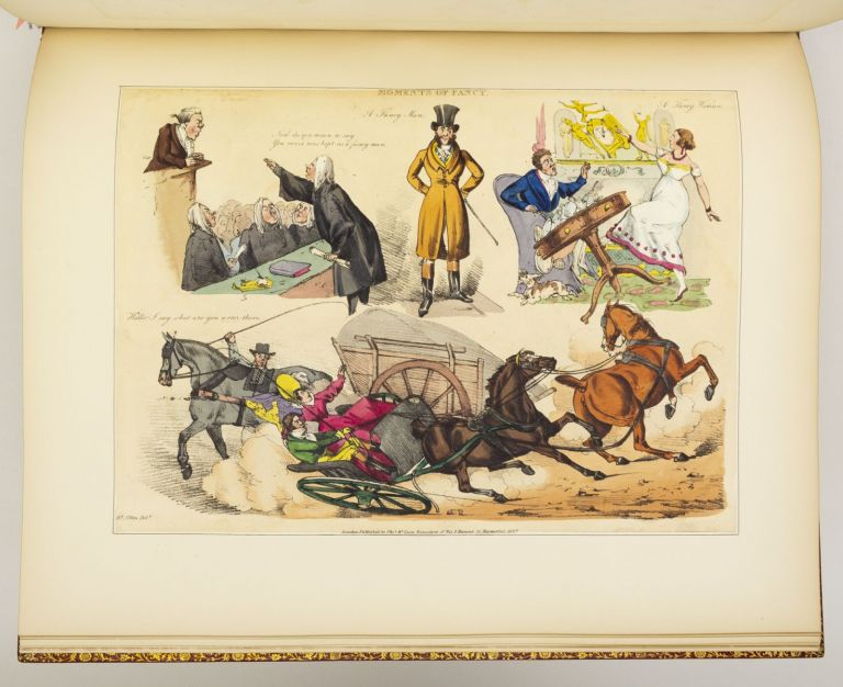 MOMENTS OF FANCY AND WHIM. [bound with] ILLUSTRATIONS. BYRON. COLOR PLATE BOOKS, HENRY THOMAS ALKEN.