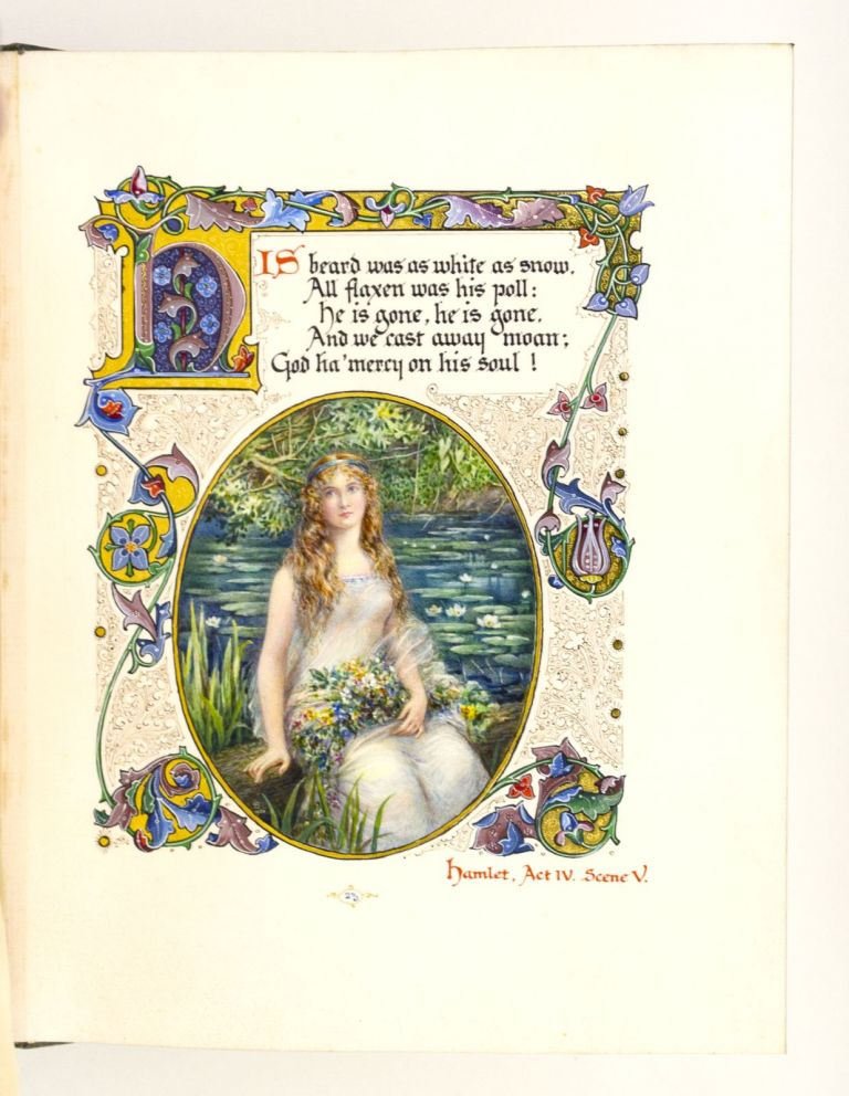 SELECTED SONGS FROM THE PLAYS OF WILLIAM SHAKESPEARE. ILLUMINATED MANUSCRIPT ON VELLUM - MODERN, WILLIAM. ALBERTO SANGORSKI SHAKESPEARE, Illuminator and Calligrapher.