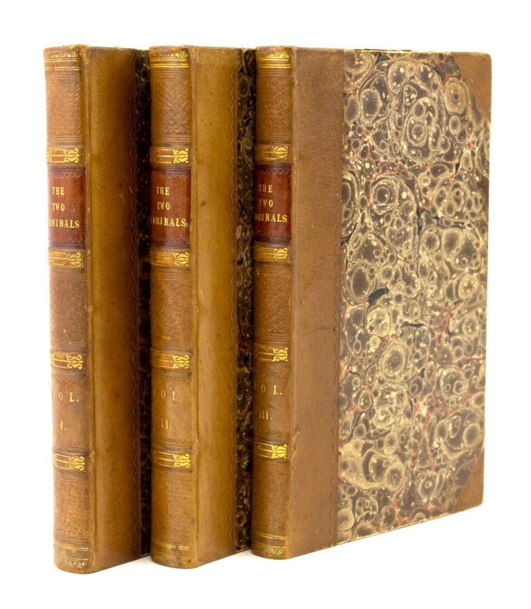 THE TWO ADMIRALS. A TALE OF THE SEA. WOMEN BIBLIOPHILES, JAMES FENIMORE COOPER, FRANCES MARY RICHARDSON CURRER, HER COPY.