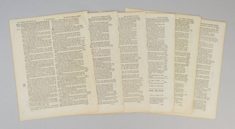 TEXT FROM I SAMUEL. OFFERED INDIVIDUALLY PRINTED LEAVES, FROM A. BIBLE IN ENGLISH.
