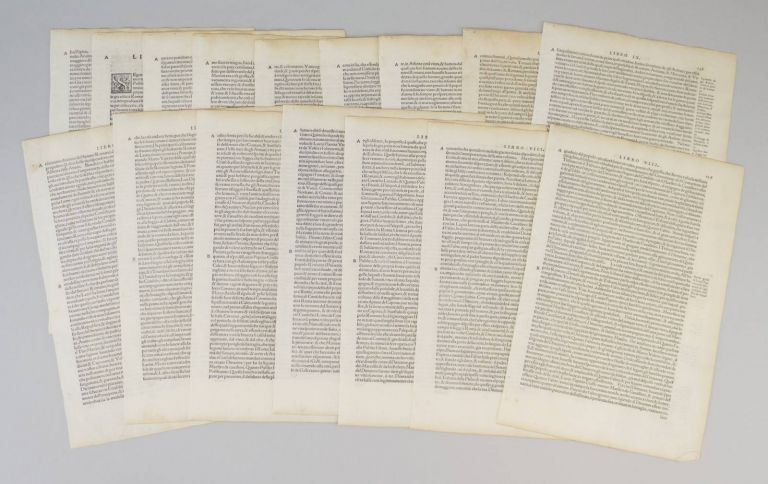 LE DECHE DI T. LIVIO PADOVANO DELLE HISTORIE ROMANE. OFFERED INDIVIDUALLY PRINTED LEAVES, FROM TITUS LIVIUS'.