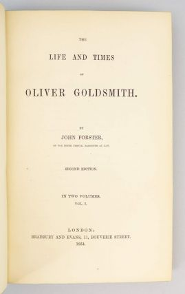 THE LIFE AND TIMES OF OLIVER GOLDSMITH.
