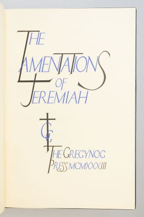 THE LAMENTATIONS OF JEREMIAH.