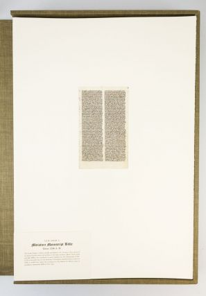 ORIGINAL LEAVES FROM FAMOUS BIBLES. NINE CENTURIES 1121-1935 A.D.
