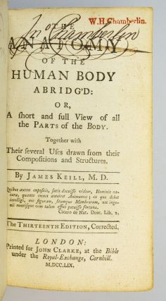 THE ANATOMY OF THE HUMAN BODY ABRIDG'D.