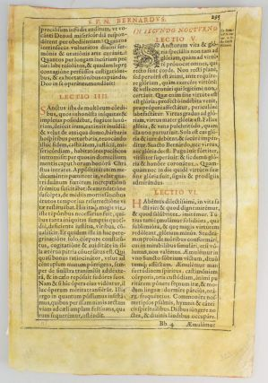 A BOOK OF LATIN SERMONS. FROM A LEAF PRINTED ON VELLUM